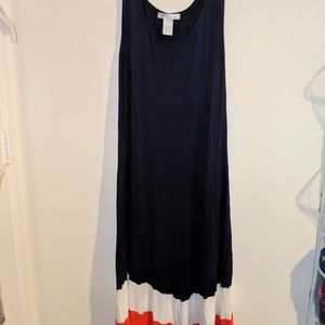 Blue white and red maxi